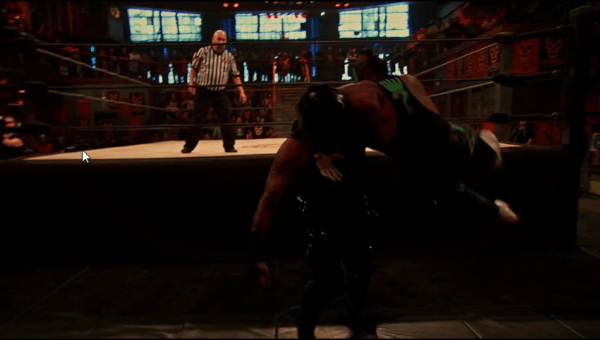 Rey Mysterio Jr. Tilt-a-Whirl DDT on Pentagon Dark