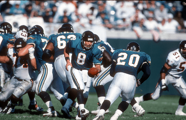 Two players in the Greatest of All Teams discussion, Mark Brunell and Natrone Means
